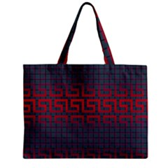 Abstract Tiling Pattern Background Zipper Mini Tote Bag