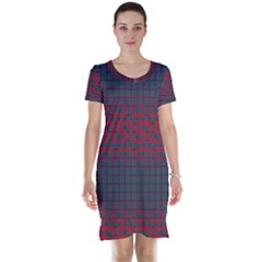 Abstract Tiling Pattern Background Short Sleeve Nightdress