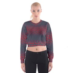 Abstract Tiling Pattern Background Women s Cropped Sweatshirt