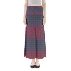 Abstract Tiling Pattern Background Maxi Skirts