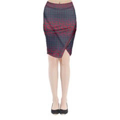 Abstract Tiling Pattern Background Midi Wrap Pencil Skirt
