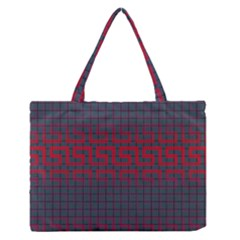 Abstract Tiling Pattern Background Medium Zipper Tote Bag