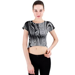 Abstract Swirling Pattern Background Wallpaper Crew Neck Crop Top