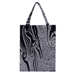 Abstract Swirling Pattern Background Wallpaper Classic Tote Bag