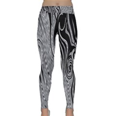 Abstract Swirling Pattern Background Wallpaper Classic Yoga Leggings