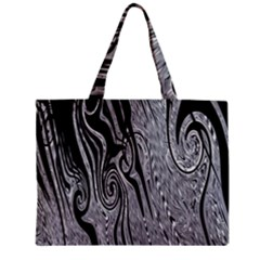Abstract Swirling Pattern Background Wallpaper Zipper Mini Tote Bag