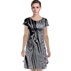 Abstract Swirling Pattern Background Wallpaper Cap Sleeve Nightdress