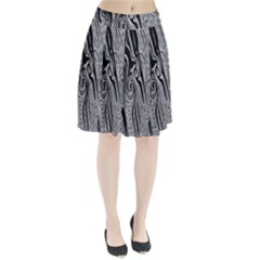 Abstract Swirling Pattern Background Wallpaper Pleated Skirt