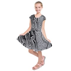 Abstract Swirling Pattern Background Wallpaper Kids  Short Sleeve Dress