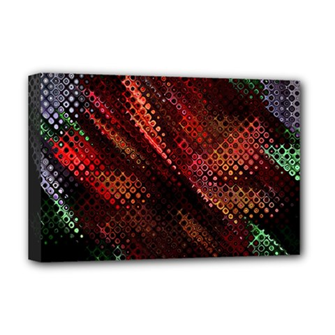Abstract Green And Red Background Deluxe Canvas 18  X 12