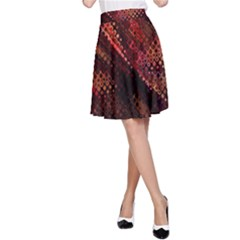 Abstract Green And Red Background A-Line Skirt