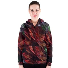 Abstract Green And Red Background Women s Zipper Hoodie