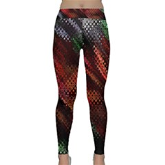 Abstract Green And Red Background Classic Yoga Leggings