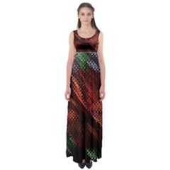 Abstract Green And Red Background Empire Waist Maxi Dress