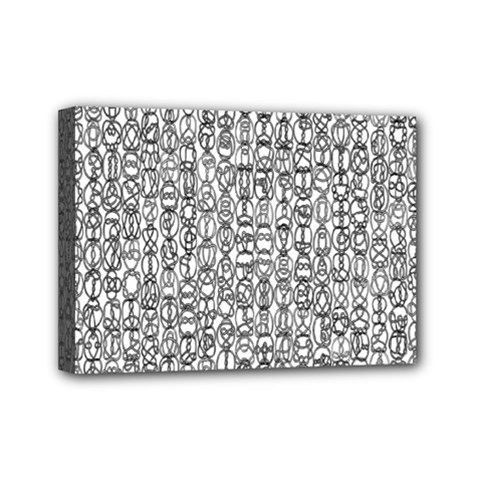 Abstract Knots Background Design Pattern Mini Canvas 7  x 5