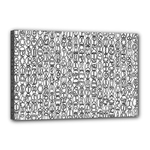 Abstract Knots Background Design Pattern Canvas 18  x 12