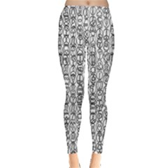 Abstract Knots Background Design Pattern Leggings