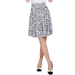 Abstract Knots Background Design Pattern A Line Skirt