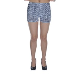 Abstract Knots Background Design Pattern Skinny Shorts