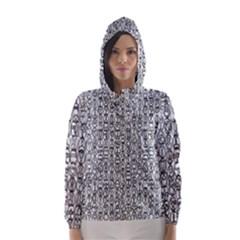 Abstract Knots Background Design Pattern Hooded Wind Breaker (women)