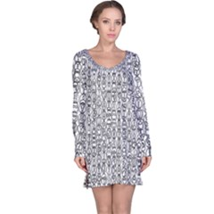 Abstract Knots Background Design Pattern Long Sleeve Nightdress