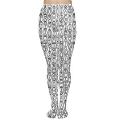 Abstract Knots Background Design Pattern Women s Tights