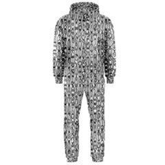 Abstract Knots Background Design Pattern Hooded Jumpsuit (Men)