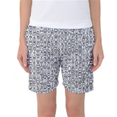 Abstract Knots Background Design Pattern Women s Basketball Shorts