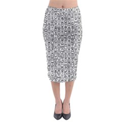 Abstract Knots Background Design Pattern Midi Pencil Skirt