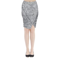 Abstract Knots Background Design Pattern Midi Wrap Pencil Skirt