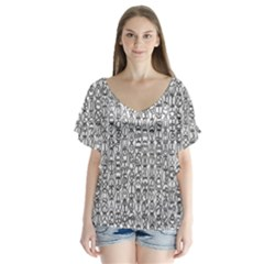 Abstract Knots Background Design Pattern Flutter Sleeve Top