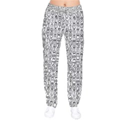 Abstract Knots Background Design Pattern Drawstring Pants