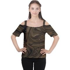 Abstract Art Women s Cutout Shoulder Tee