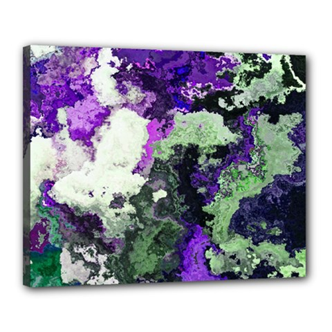 Background Abstract With Green And Purple Hues Canvas 20  X 16