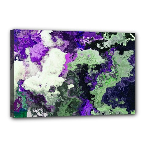 Background Abstract With Green And Purple Hues Canvas 18  x 12