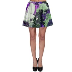 Background Abstract With Green And Purple Hues Skater Skirt
