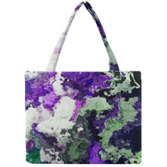Background Abstract With Green And Purple Hues Mini Tote Bag