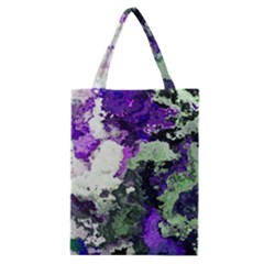 Background Abstract With Green And Purple Hues Classic Tote Bag