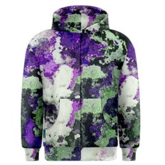 Background Abstract With Green And Purple Hues Men s Zipper Hoodie