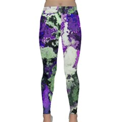 Background Abstract With Green And Purple Hues Classic Yoga Leggings
