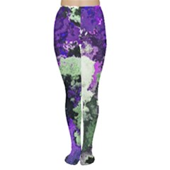 Background Abstract With Green And Purple Hues Women s Tights