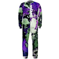 Background Abstract With Green And Purple Hues OnePiece Jumpsuit (Men)