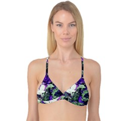 Background Abstract With Green And Purple Hues Reversible Tri Bikini Top