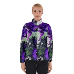 Background Abstract With Green And Purple Hues Winterwear