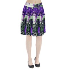 Background Abstract With Green And Purple Hues Pleated Skirt
