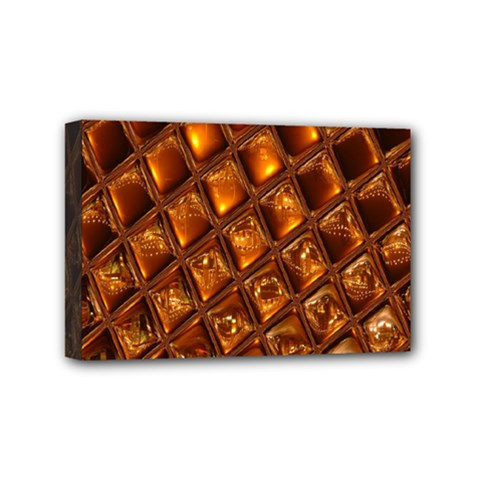 Caramel Honeycomb An Abstract Image Mini Canvas 6  x 4