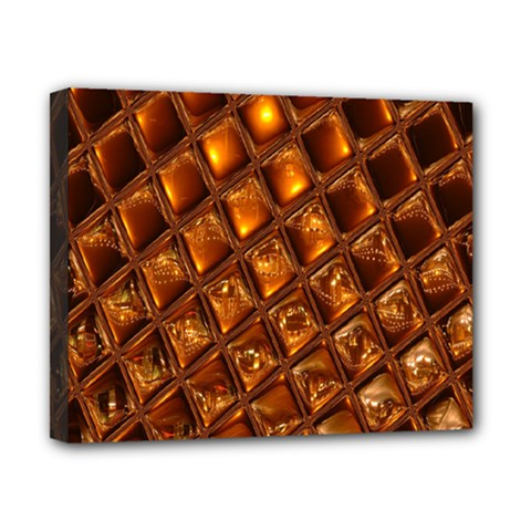 Caramel Honeycomb An Abstract Image Canvas 10  X 8