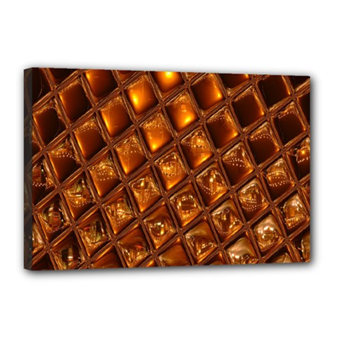 Caramel Honeycomb An Abstract Image Canvas 18  x 12