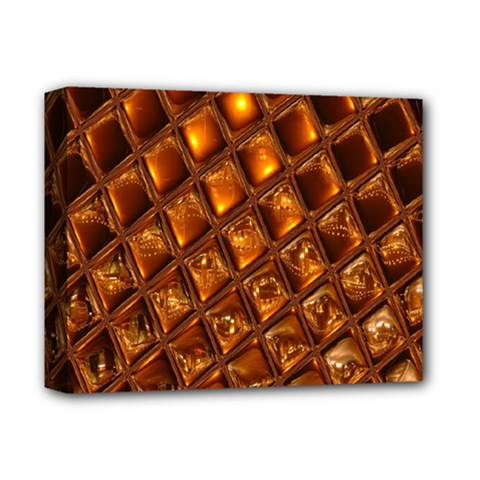 Caramel Honeycomb An Abstract Image Deluxe Canvas 14  X 11
