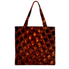 Caramel Honeycomb An Abstract Image Zipper Grocery Tote Bag